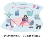 remote work or study at home... | Shutterstock .eps vector #1753559861