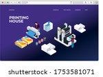 printing house digital...   Shutterstock .eps vector #1753581071