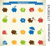 collection of piggy bank icons  ... | Shutterstock .eps vector #175358765