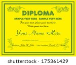 yellow diploma concept with...