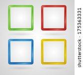clean color set of frames or... | Shutterstock . vector #175363331