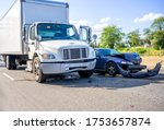 Collision of a semi truck with...