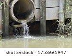 Hugh Concrete Sewage On The...