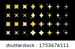 star burst sparkle art deco... | Shutterstock .eps vector #1753676111
