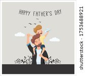happy father's day vector... | Shutterstock .eps vector #1753688921