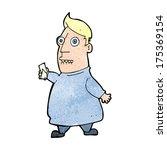 cartoon nervous man with tickets | Shutterstock . vector #175369154