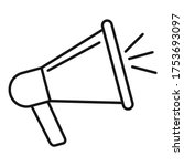 engaging content megaphone icon....   Shutterstock .eps vector #1753693097