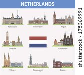 Netherlands. Symbols Of Cities...