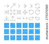 thin arrow icon set. raster... | Shutterstock . vector #175370585