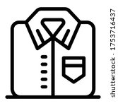 formal shirt icon. outline... | Shutterstock .eps vector #1753716437
