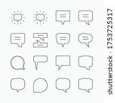 messages bubble icon set vol.   Shutterstock .eps vector #1753725317