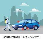 car disinfection service ...   Shutterstock .eps vector #1753732994