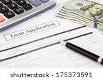closeup loan application form... | Shutterstock . vector #175373591