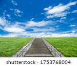 Blue Summer Skies And Stairs...