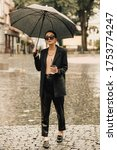 Ukrainian Woman Umbrella In Th...