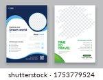 travel agency flyer or poster... | Shutterstock .eps vector #1753779524
