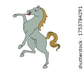 rampant horse for a coat of... | Shutterstock .eps vector #1753784291