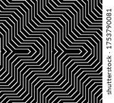 design seamless monochrome...   Shutterstock .eps vector #1753790081