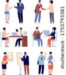 hr employer interview. business ... | Shutterstock .eps vector #1753793381