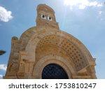 Church of John the Baptist at the baptismal site of Jesus Christ in Bethany, border between Israel and Jordan