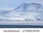 Sea Ice In Front Of The Glacier ...