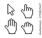 pixel cursors set  cursor arrow ...   Shutterstock .eps vector #1753815617