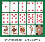 set of playing cards of hearts... | Shutterstock . vector #175383941