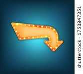 arrow marquee vector sign.... | Shutterstock .eps vector #1753847351