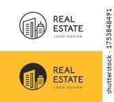 vector logo design of real... | Shutterstock .eps vector #1753848491