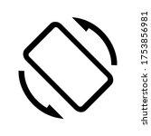 screen rotation icon vector... | Shutterstock .eps vector #1753856981
