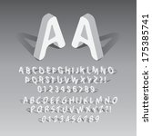 isometric rounded font and... | Shutterstock .eps vector #175385741