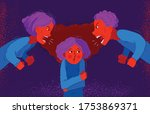 parents abusers screams and... | Shutterstock .eps vector #1753869371