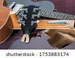 Smashed Guitars. Pile Of Broken ...