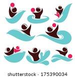 vector collection of aqua park  ... | Shutterstock .eps vector #175390034