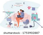 remote work or study at home... | Shutterstock .eps vector #1753902887