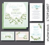 wedding invitations card with... | Shutterstock .eps vector #1753916807