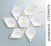 infographic design with rhombus ...   Shutterstock .eps vector #175394474