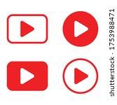 play button vector icon play...   Shutterstock .eps vector #1753988471