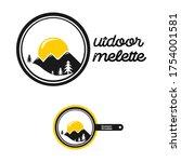 outdoor omelette. modern design.... | Shutterstock .eps vector #1754001581