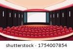 empty cinema hall. movie...   Shutterstock .eps vector #1754007854