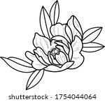 flower art work tattoo sketch   Shutterstock .eps vector #1754044064