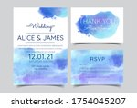 wedding invitation cards with... | Shutterstock .eps vector #1754045207