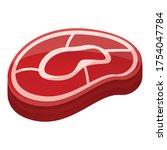 meat slice icon. cartoon of...   Shutterstock .eps vector #1754047784