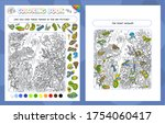coloring book game for kids and ... | Shutterstock .eps vector #1754060417