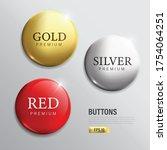 button set circle modern color...   Shutterstock .eps vector #1754064251