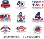 4th of july  usa celebration of ... | Shutterstock .eps vector #1754090891