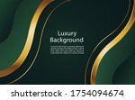 abstract wavy luxury dark green ... | Shutterstock .eps vector #1754094674
