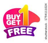 buy one get one free talker....   Shutterstock .eps vector #1754111024