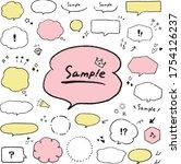 speech bubble illustration... | Shutterstock .eps vector #1754126237