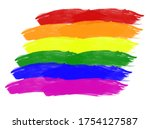 lgbtqi colored paint with...   Shutterstock . vector #1754127587